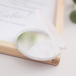PREZENT dla Świadkowej w drewnianym pudełku Lusterko Klasyczne Srebro