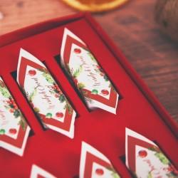 BOMBONIERKA z krówkami świąteczna Zimowa Jarzębina