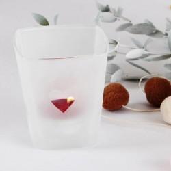 ŚWIECZNIK szklany Sweet + tealight