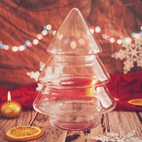 CHOINKA świąteczna szklana 21cm