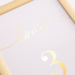 TABLICZKA na stolik z personalizacją Only Love (+ramka)