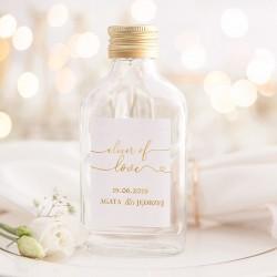 BUTELECZKA na alkohol dla gości Only Love (+ etykieta)
