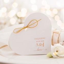 PUDEŁECZKA SERCA personalizowane Only Love 10szt (+etykiety+złoty sznureczek)