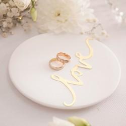TALERZYK ceramiczny na obrączki Only Love