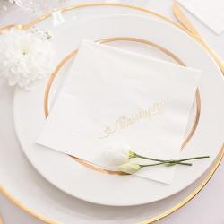 SERWETKI papierowe Dziękujemy Białe 33x33cm 20szt