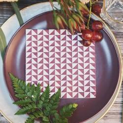 Serwetki papierowe geometryczne wzory Marsala 33cmx33cm 20 szt