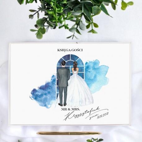 KSIĘGA GOŚCI weselnych Para Zakochanych BIAŁE/CZARNE KARTKI
