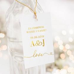 ZAWIESZKI na wódkę personalizowane Only Love 10szt