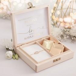 PREZENT dla Świadkowej w drewnianym pudełku Only Love