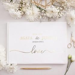 KSIĘGA GOŚCI weselnych Only Love BIAŁE/CZARNE KARTKI