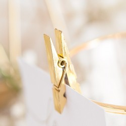 KLAMERKI dekoracyjne metalizowane ZŁOTE 10szt