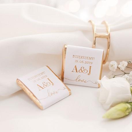 CZEKOLADKA ślubna personalizowana Only Love
