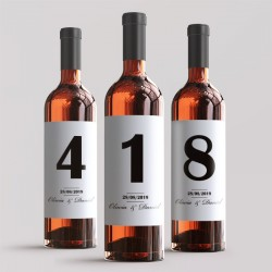 ETYKIETA na wino Numerek na Stolik
