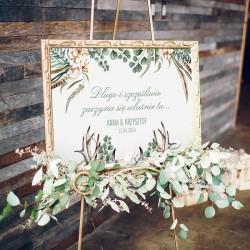 PLAKAT personalizowany Boho Wedding WYBIERZ ROZMIAR