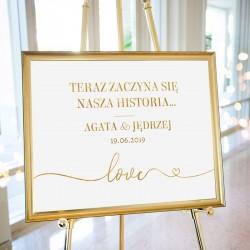 PLAKAT personalizowany Only Love WYBIERZ ROZMIAR