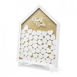 KSIĘGA GOŚCI weselnych drewniana w ramie Home Sweet Home