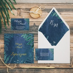 ZAPROSZENIE ślubne personalizowane Botanica Dark