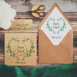 ZAPROSZENIE ślubne personalizowane Ekologiczne