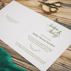 ZAPROSZENIE ślubne personalizowane Zielony Wianek