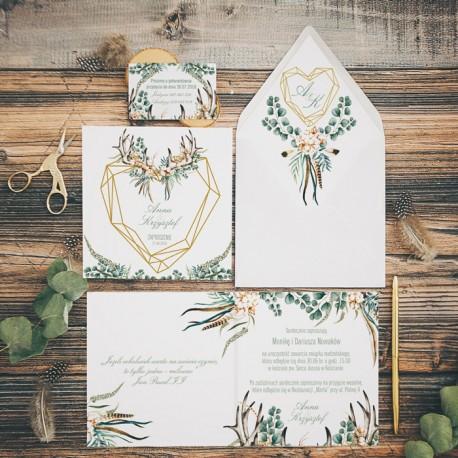 ZAPROSZENIE ślubne personalizowane Boho Wedding