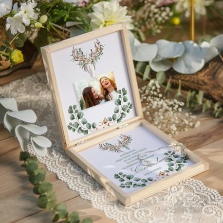 PREZENT dla Świadkowej w drewnianym pudełku Bransoletka Boho Wedding