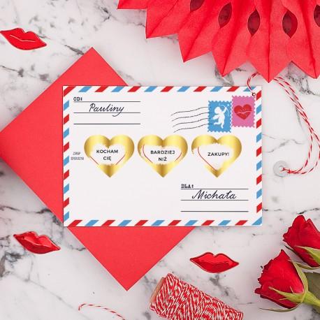 ZDRAPKA Twoja Wiadomość do Ukochanego Prezent Walentynkowy