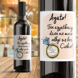 ETYKIETA na Wino ze ZDRAPKĄ Pytanie do Świadkowej Personalizowana
