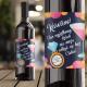 ETYKIETA na Wino ze ZDRAPKĄ Pytanie do Świadkowej Kieliszek Personalizowana