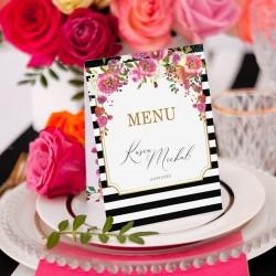 MENU weselne kolekcja ślubna Wedding
