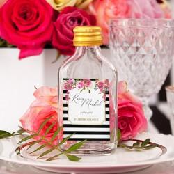 BUTELECZKA na alkohol dla gości kolekcja ślubna Wedding