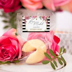 CIASTECZKO dla gości z wróżbą kolekcja ślubna Wedding (+etykieta)