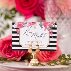 BILECIK podziękowanie personalizowany kolekcja ślubna Wedding