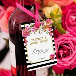 ZAWIESZKI na wódkę personalizowane kolekcja ślubna Wedding 10szt