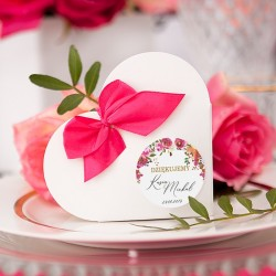 PUDEŁECZKA SERCA personalizowane kolekcja ślubna Wedding 10szt (+kokardki)