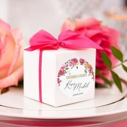 PUDEŁECZKA kwadrat kolekcja ślubna Wedding 10szt (+etykiety+kokardki)