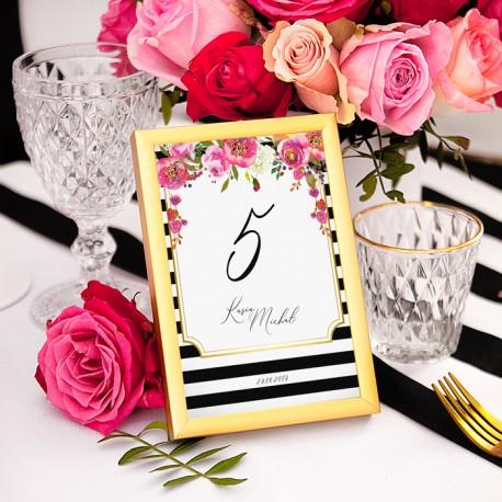 TABLICZKA na stolik z personalizacją kolekcja ślubna Wedding (+ramka)