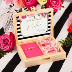 PREZENT dla Świadkowej w drewnianym pudełku Wedding