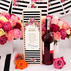 SKRZYNKA drewniana na alkohol Podziękowanie dla Rodziców Wedding