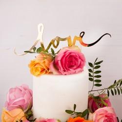 KONTUR dekoracyjny na tort LOVE Złoty