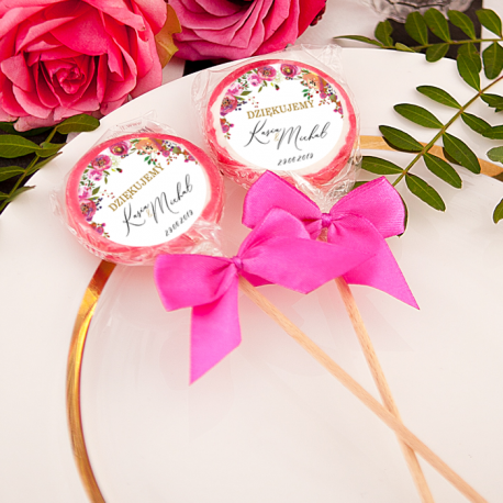LIZAKI z sercem Podziękowanie Kolekcja Wedding (+etykiety+kokardki) 10szt