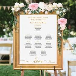 PLAN stołów personalizowany Kolekcja Only Love