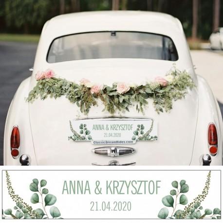 TABLICA rejestracyjna personalizowana Boho Wedding