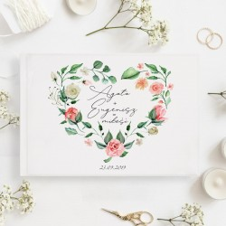 KSIĘGA GOŚCI weselnych Składniki Miłości BIAŁE/CZARNE KARTKI