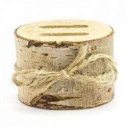 PODSTAWKA na obrączki z naturalnego drewna
