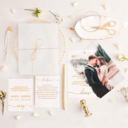 ZAPROSZENIE ślubne personalizowane Only Love