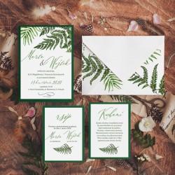 ZAPROSZENIE ślubne personalizowane Kwiat Paproci