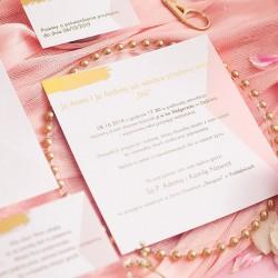 ZAPROSZENIE ślubne personalizowane Różowe Złoto
