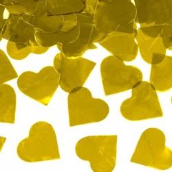 KONFETTI WYSTRZAŁOWE metalizowane Serca ZŁOTE