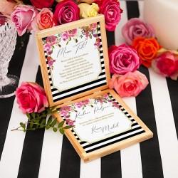 PUDEŁKO drewniane Prośba o Błogosławieństwo Wedding z IMIONAMI