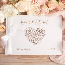 KSIĘGA GOŚCI weselnych KarmeLOVE BIAŁE/CZARNE KARTKI
